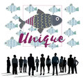 Individuality Unique Different Fish Graphic Concept Royalty Free Stock Photo