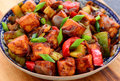 Indo-Chinese starter -Chilli Paneer Royalty Free Stock Photo
