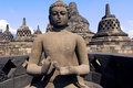 Indonesië, Java, Borobudur: Tempel Royalty-vrije Stock Foto