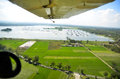 Indonesia environmental problems a lake crowded with fish cages as seen from aerial photograph taken at boyolali java s high Stock Images