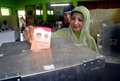Indonesia high cost democracy a citizen votes on a local regent election in karanganyar java since the fall of suharto Stock Image