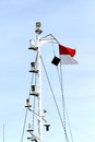 Indonesia s flag in mast sails Royalty Free Stock Photo