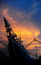 Indonesia s traditional ship trading in sunda kelapa harbour Stock Photos