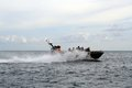 Indonesia sea rider indonesian army elite troops by ship doing exercises in the strait of lembeh bitung north sulawesi in march Royalty Free Stock Photo