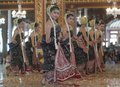 Indonesia southeast asia tourism budget an annual performance of the sacred bedhaya dance at surakarta palace solo java and its Stock Photos