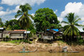 Indonesia - Stilt village on the Kepala river Royalty Free Stock Images