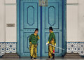 Indonesia to attract new visitors from china royal soldiers of surakarta royal palace in solo java the southeast asian country Royalty Free Stock Images