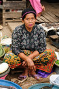 Indonesia - traditional tribal market Stock Photography