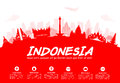 Indonesia Travel Landmarks.