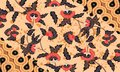 Indonesian batik motifs with very distinctive flower patterns.