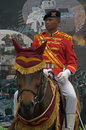 Indonesian cavalry soldier portrait of Stock Photos