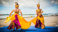 Indonesian dancers Royalty Free Stock Photo