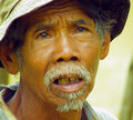 Indonesian farmer from the rice paddies in west java Stock Photos