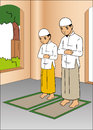 Indonesian people praying Royalty Free Stock Image