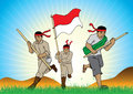 Indonesian Soldiers Royalty Free Stock Photo
