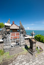 Indonesian temple on the Tanah lot complex. Bali. Indonesia Royalty Free Stock Photo
