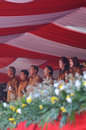 Indonesian vice president boediono attend the national sports day surakarta central java indonesia Stock Images