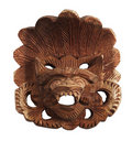 Indonesian wooden mask Royalty Free Stock Photo