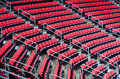 Indoor arena seats rows of inside the large venue Royalty Free Stock Photos
