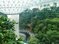 Indoor artificial waterfall in the singapore changi airport