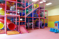 Indoor children playground in room Royalty Free Stock Photography