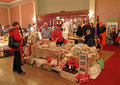 Indoor craft fair photo showing an held at the kings hall herne bay in kent on th april photo ideal for showing local arts and Stock Photos