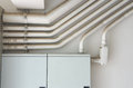 Indoor electrical conduit Royalty Free Stock Photo