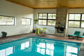 Indoor heated swimming pool Royalty Free Stock Photo