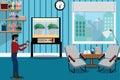 Indoor hydroponics concept,modren technology for vegetables and