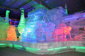 Indoor ice sculptures Stock Photo