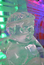 Indoor ice sculptures Royalty Free Stock Images