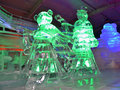Indoor ice sculptures sculpture of chinese courtiers at degrees art exhibition in singapore february Royalty Free Stock Photos