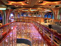 Indoor interior on the cruise ship Stock Image