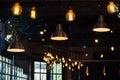 Indoor light coffee shop lighting Royalty Free Stock Photo