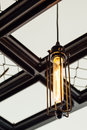 Indoor light coffee shop lighting Royalty Free Stock Images