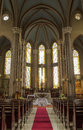 Indoor scene of the gothic chruch of st anthony of padua in istanbul Stock Photo