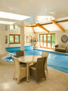 Indoor swimming pool. Stock Photos