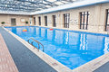 Indoor swimming pool close up Stock Photos