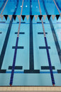 Indoor Swimming Pool Lanes Stock Images