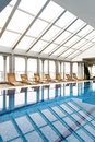 Indoor swimming pool with nobody around Royalty Free Stock Photo