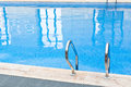 Indoor swimming pool partial close up Royalty Free Stock Images