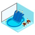 Indoor Water Park Illustration Royalty Free Stock Photo