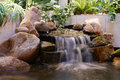 Indoor waterfall waterall used as feature decoration Stock Image