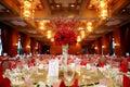 Indoor wedding scene Royalty Free Stock Photo
