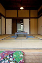Indoor of wooden villa in  Japan Stock Images