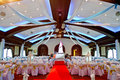 Indoors wedding reception venue with dã cor Stock Images