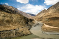 Indus River in Ladakh, India Royalty Free Stock Photo