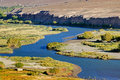 Indus river, Ladakh, Jammu and Kashmir,  India Royalty Free Stock Photo