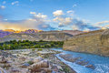 Indus river in Leh valley Royalty Free Stock Photo