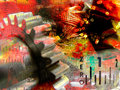 Industiral collage abstract Stock Image